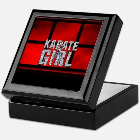 Karate Girl Keepsake Box