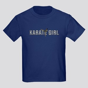 Karate Girl Kids Dark T-Shirt