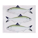 American Shad Throw Blanket