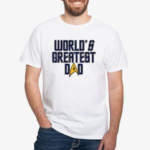 Star Trek World's Greatest Dad White T-Shirt