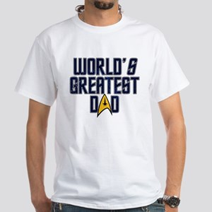 Star Trek World's Greatest Dad White T-Shirt