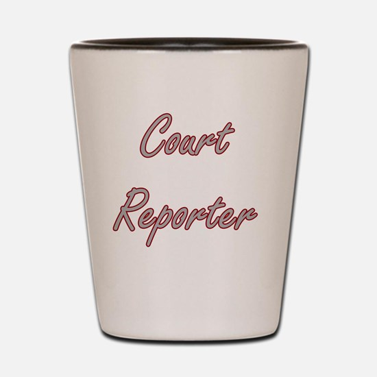 Court Reporter Artistic Job Design Shot Glass
