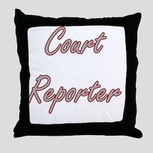 Court Reporter Artistic Job Design Throw Pillow