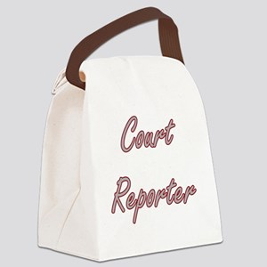 Court Reporter Artistic Job Desig Canvas Lunch Bag