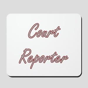 Court Reporter Artistic Job Design Mousepad