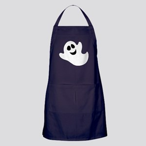 Cute Happy Halloween Ghost Apron (dark)