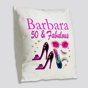 CHIC CUSTOM 50TH Burlap Throw Pillow