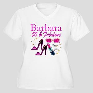 CHIC CUSTOM 50TH Women's Plus Size V-Neck T-Shirt