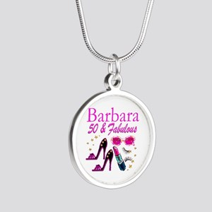 CHIC CUSTOM 50TH Silver Round Necklace