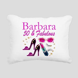 CHIC CUSTOM 50TH Rectangular Canvas Pillow