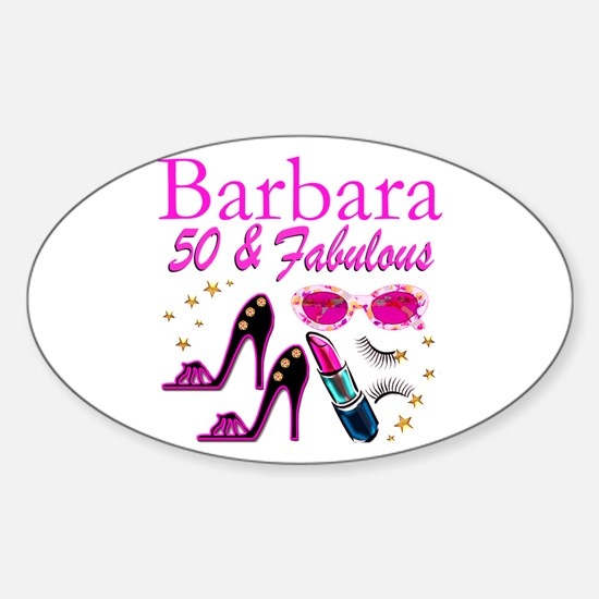 CHIC CUSTOM 50TH Sticker (Oval)