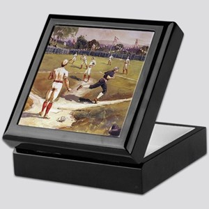 Vintage Sports Baseball Keepsake Box
