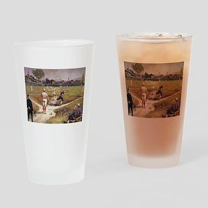 Vintage Sports Baseball Drinking Glass