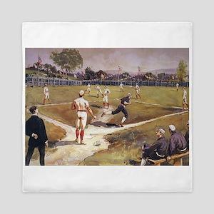 Vintage Sports Baseball Queen Duvet