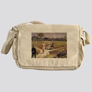 Vintage Sports Baseball Messenger Bag