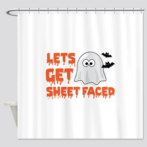 Let's Get Sheet Faced Shower Curtain