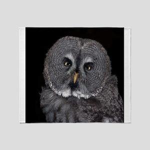 Owl_2015_0201 Throw Blanket