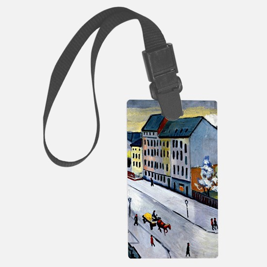 Macke - Our Street in Gray Luggage Tag