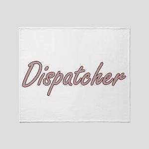 Dispatcher Artistic Job Design Throw Blanket