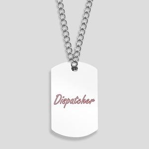 Dispatcher Artistic Job Design Dog Tags