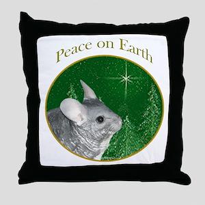 Chinchilla Peace Throw Pillow