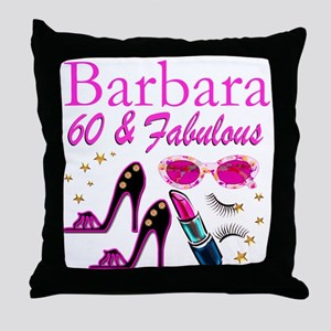 FUN FABULOUS 60TH Throw Pillow