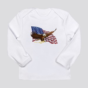American Flag and Eagle Long Sleeve T-Shirt