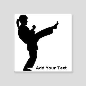 "Martial Arts Girls Square Sticker 3"" x 3"""
