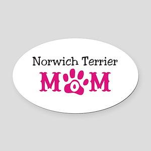 Norwich Terrier Oval Car Magnet