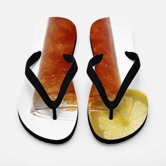 A Glass of Iced Tea Flip Flops