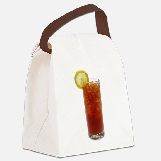 A Glass of Iced Tea Canvas Lunch Bag