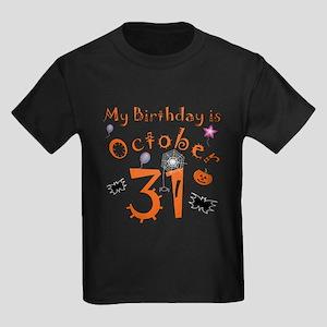 Halloween Birthday Kids Dark T-Shirt