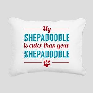 Cuter Shepadoodle Rectangular Canvas Pillow