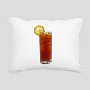 A Glass of Iced Tea Rectangular Canvas Pillow