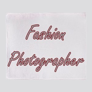 Fashion Photographer Artistic Job De Throw Blanket