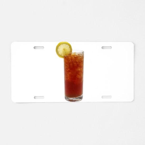 A Glass of Iced Tea Aluminum License Plate