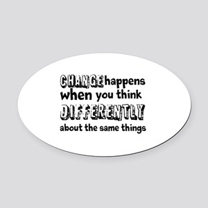 CHANGE-Do It Differently Oval Car Magnet