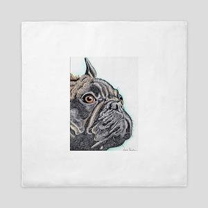 French Bulldog Brindle Queen Duvet