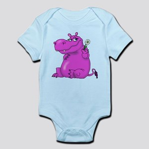 Purple Hippo Body Suit