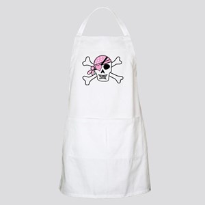 Pink Pirate Skull and Crossbones Apron
