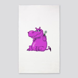 Purple Hippo Area Rug