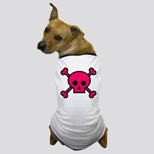 Hot pink skull and crossbones Dog T-Shirt