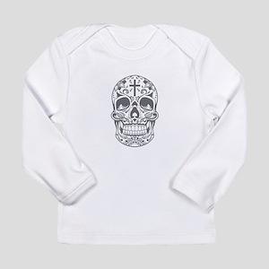 SugarSkull Grey-01 Long Sleeve T-Shirt