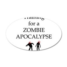 Training for Zombie Wall Decal