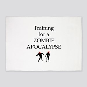 Training for Zombie 5'x7'Area Rug