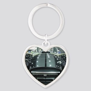 Black car Heart Keychain