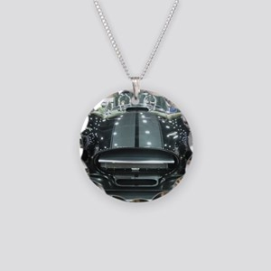 Black car Necklace Circle Charm