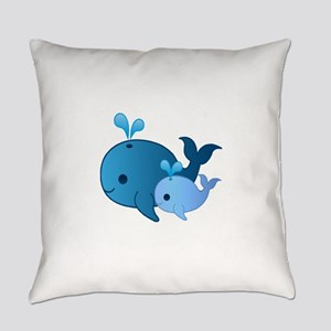 Baby Whale Everyday Pillow