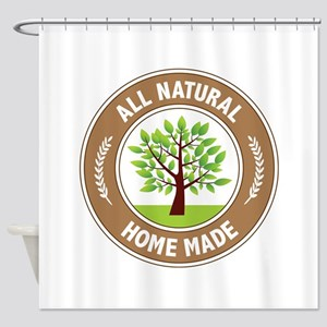 All Natural Home Made Shower Curtain