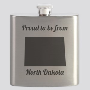 Proud To Be From North Dakota Flask